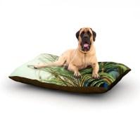 KESS InHouse 'Teal Peacock Feather' Dog Bed | Wayfair