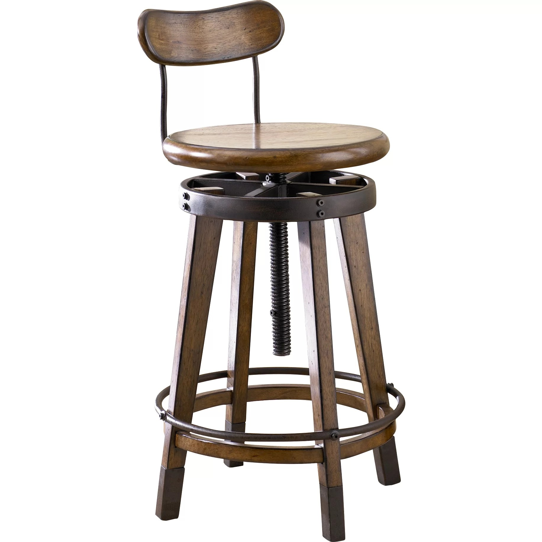 wayfair kitchen stools tier curtains hammary studio home adjustable height swivel bar stool