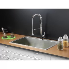 Drop In Kitchen Sinks Led Ceiling Light Fixtures Ruvati 33 Quot X 21 Sink With Faucet