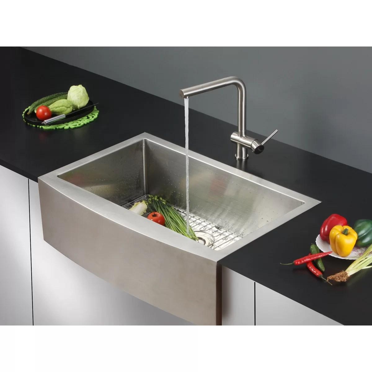 single bowl kitchen sinks remodeled small kitchens ruvati verona 33 quot x 22 apron front