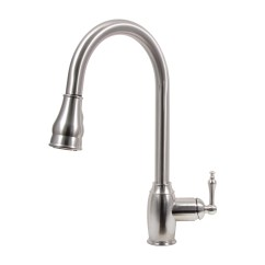 Pull Down Kitchen Faucet Reviews Appliance Cabinet Dyconn Dual Spray Single Handle