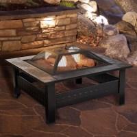 Pure Garden Steel Wood Fire Pit Table & Reviews | Wayfair