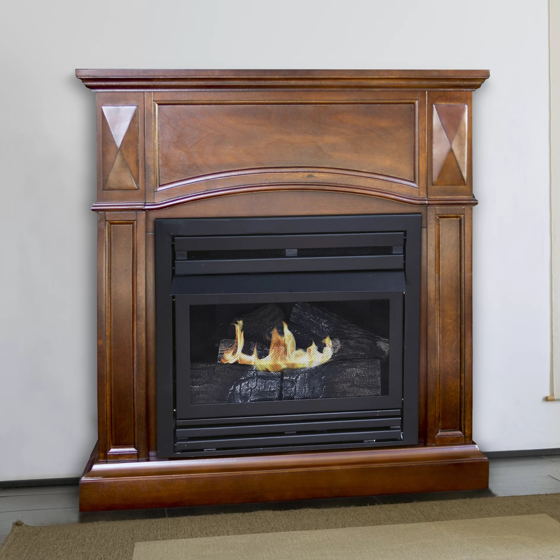 Pleasant Hearth Dual Fuel Vent Free Wall Mount Gas