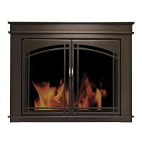 Pleasant Hearth Fenwick Cabinet Style Fireplace Screen ...