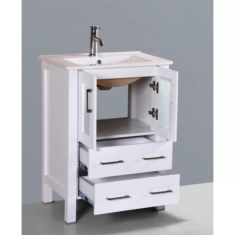 Bosconi Contemporary 24 Single Bathroom Vanity Set with