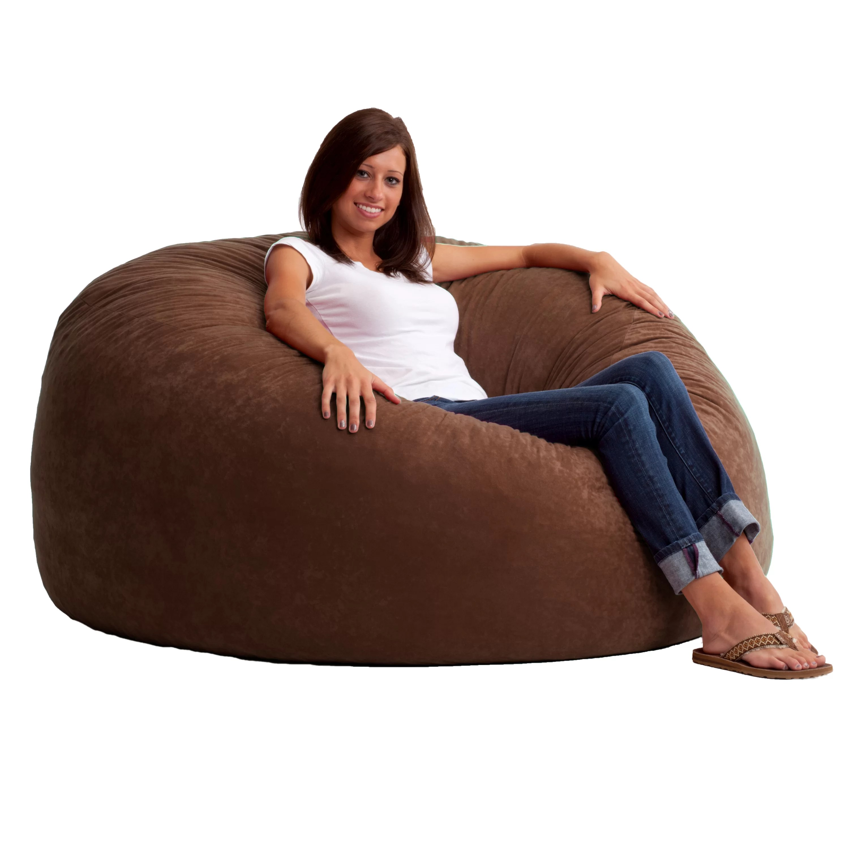 6 foot bean bag chair pottery barn kids beach comfort research fuf six media foam filled sofa