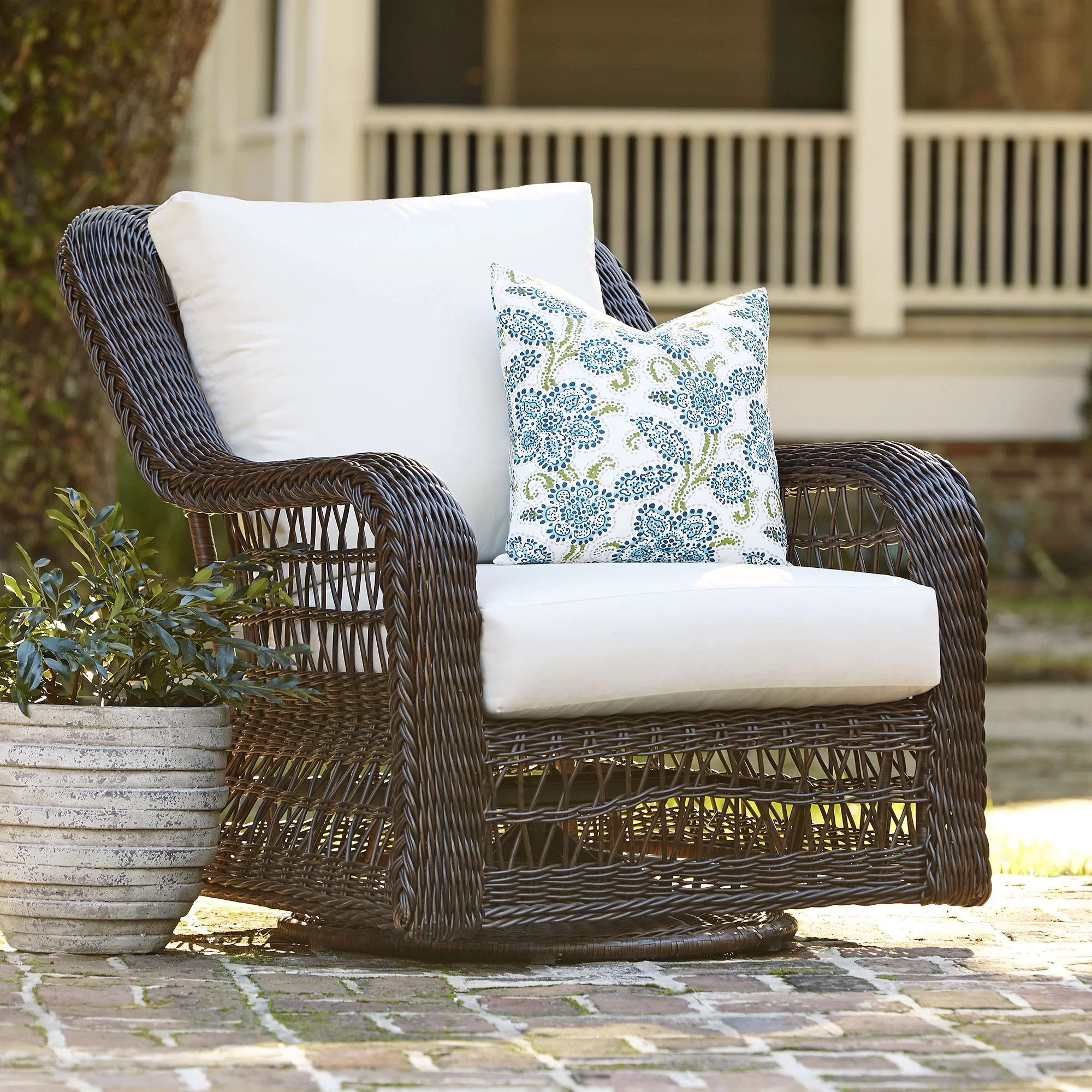 seat cushions for wicker chairs tables and chair rentals birch lane rosemead with sunbrella