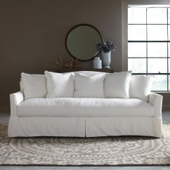 White Sofa Slipcover Cotton Berkline Recliner Covers Birch Lane Fairchild Slipcovered & Reviews | Wayfair