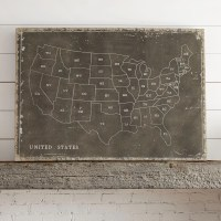 Birch Lane USA Map Wall Art & Reviews | Wayfair