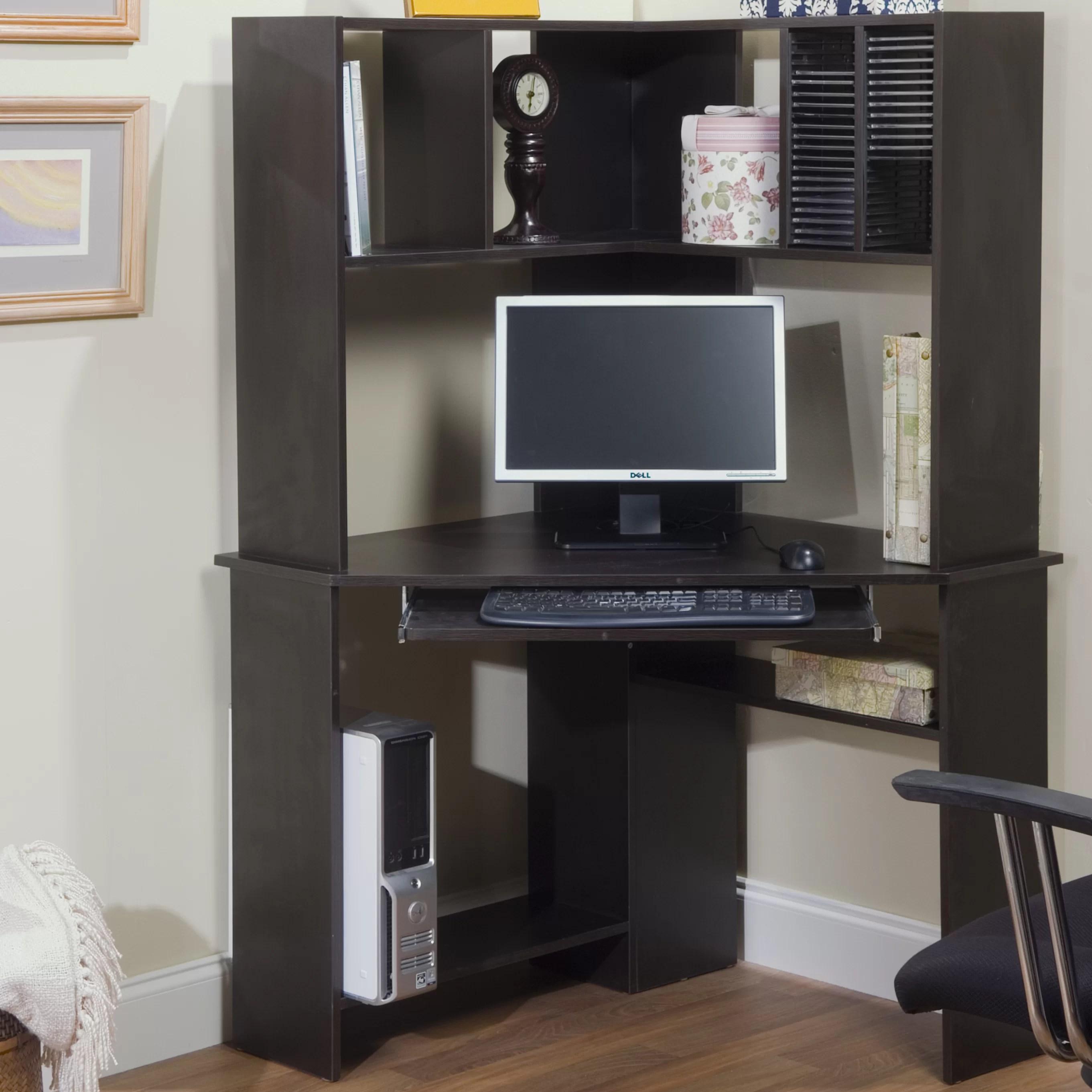 TMS Morgan Corner Computer Desk with Hutch  Reviews  Wayfair