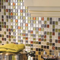 "Smart Tiles Mosaik Idaho 9.85"" x 9.85"" Peel & Stick Wall ..."