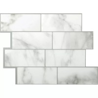"Smart Tiles Mosaik Metro Carrera 11.56"" x 8.38"" Peel ..."