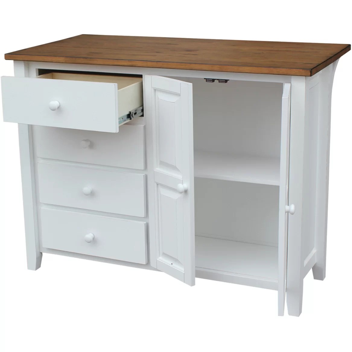 Just Cabinets Belmont Kitchen Island  Wayfair