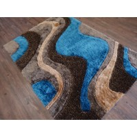 Rug Factory Plus Hand-Tufted Brown/Blue Area Rug   Wayfair
