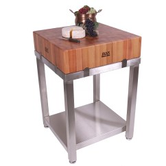 Kitchen Island Prep Table Italian Cabinets John Boos Cucina Americana Laforza With Butcher