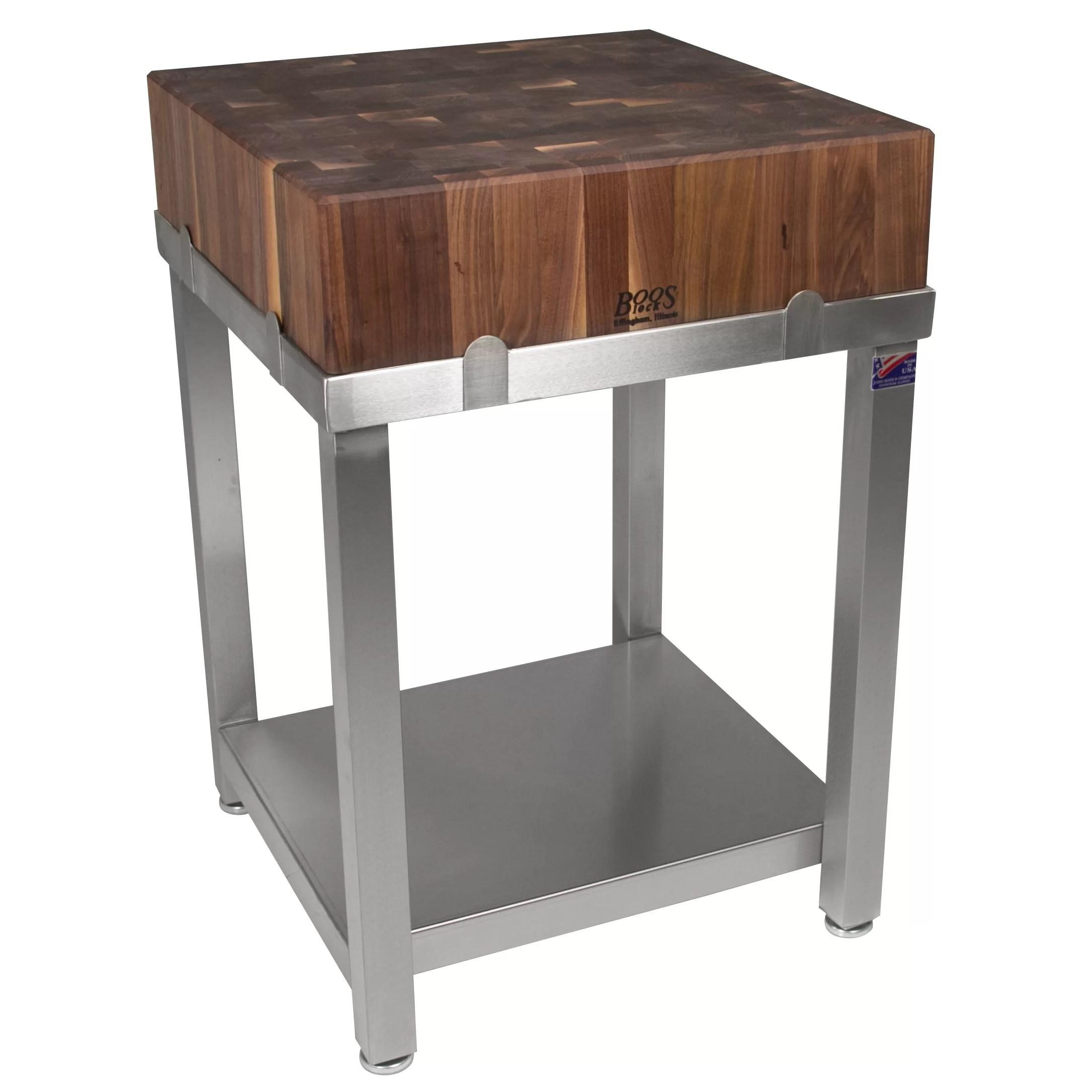 john boos kitchen islands bench seating cucina americana laforza prep table and reviews