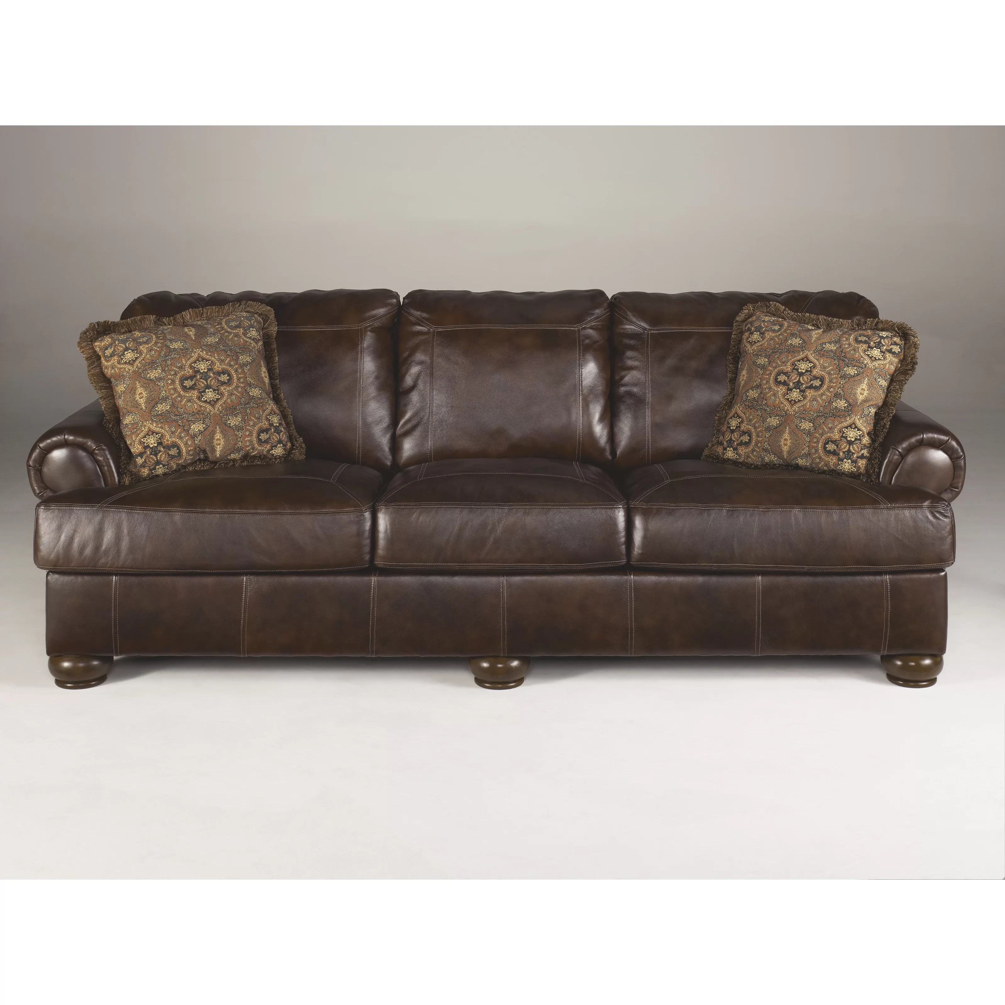 ashley leather sofa review abbyson signature design by heath and reviews
