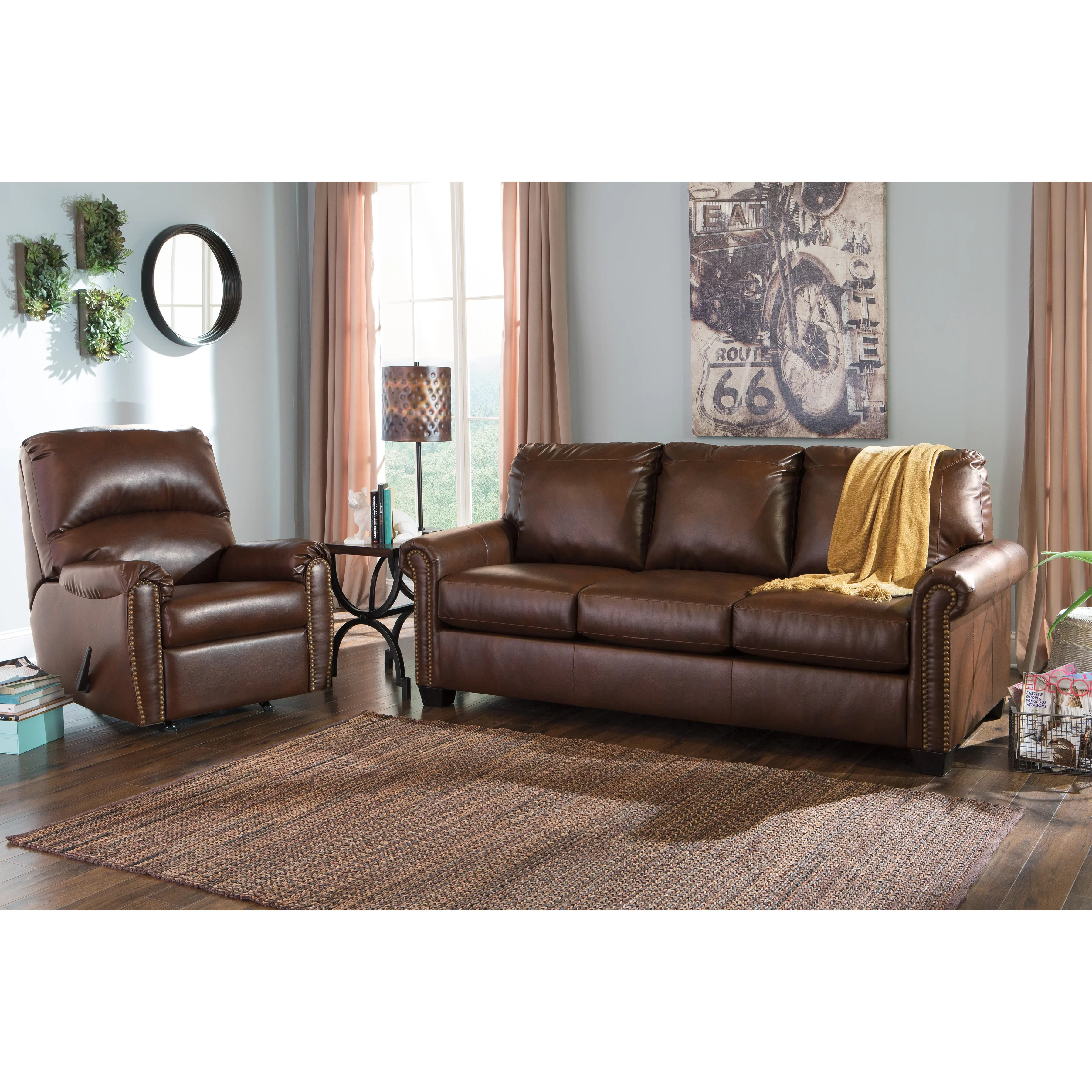 ashley furniture durablend sleeper sofa england leather sectional signature design by lottie queen