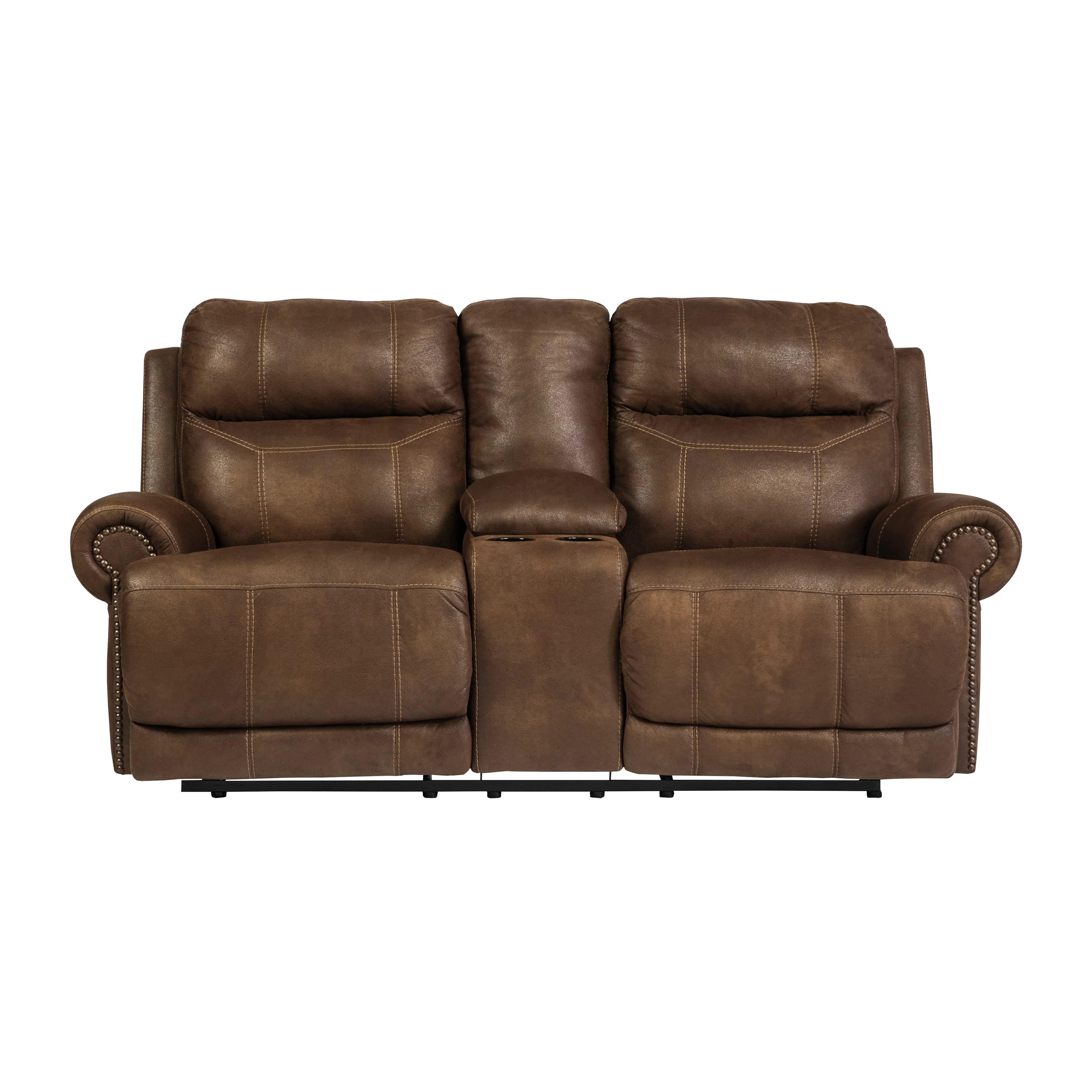 double sofa recliner saddlemen road deluxe touring seat signature design by ashley austere reclining