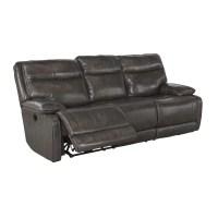 Signature Design by Ashley Leather Reclining Sofa | Wayfair.ca