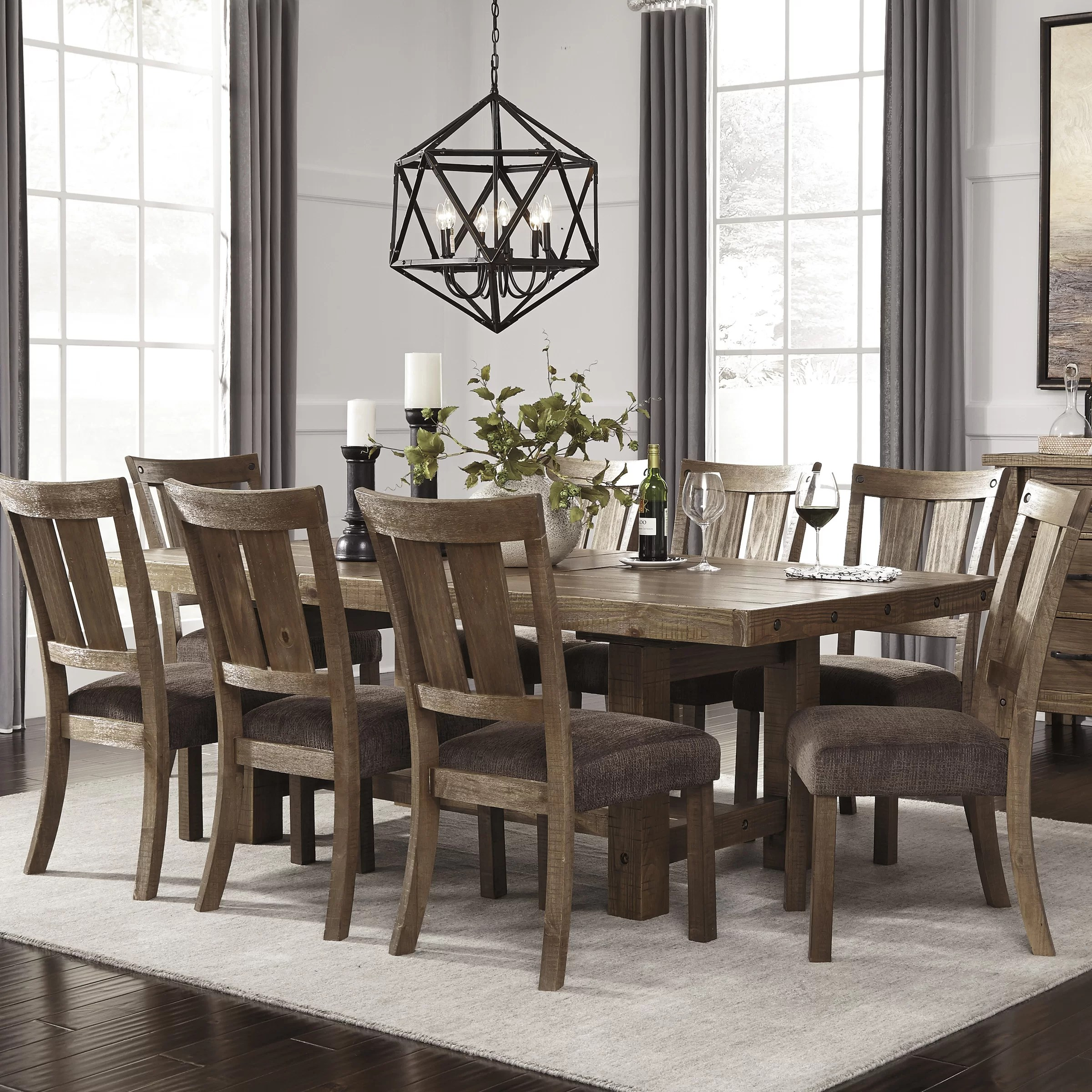 9 piece kitchen table set updating cabinets signature design by ashley dining and reviews