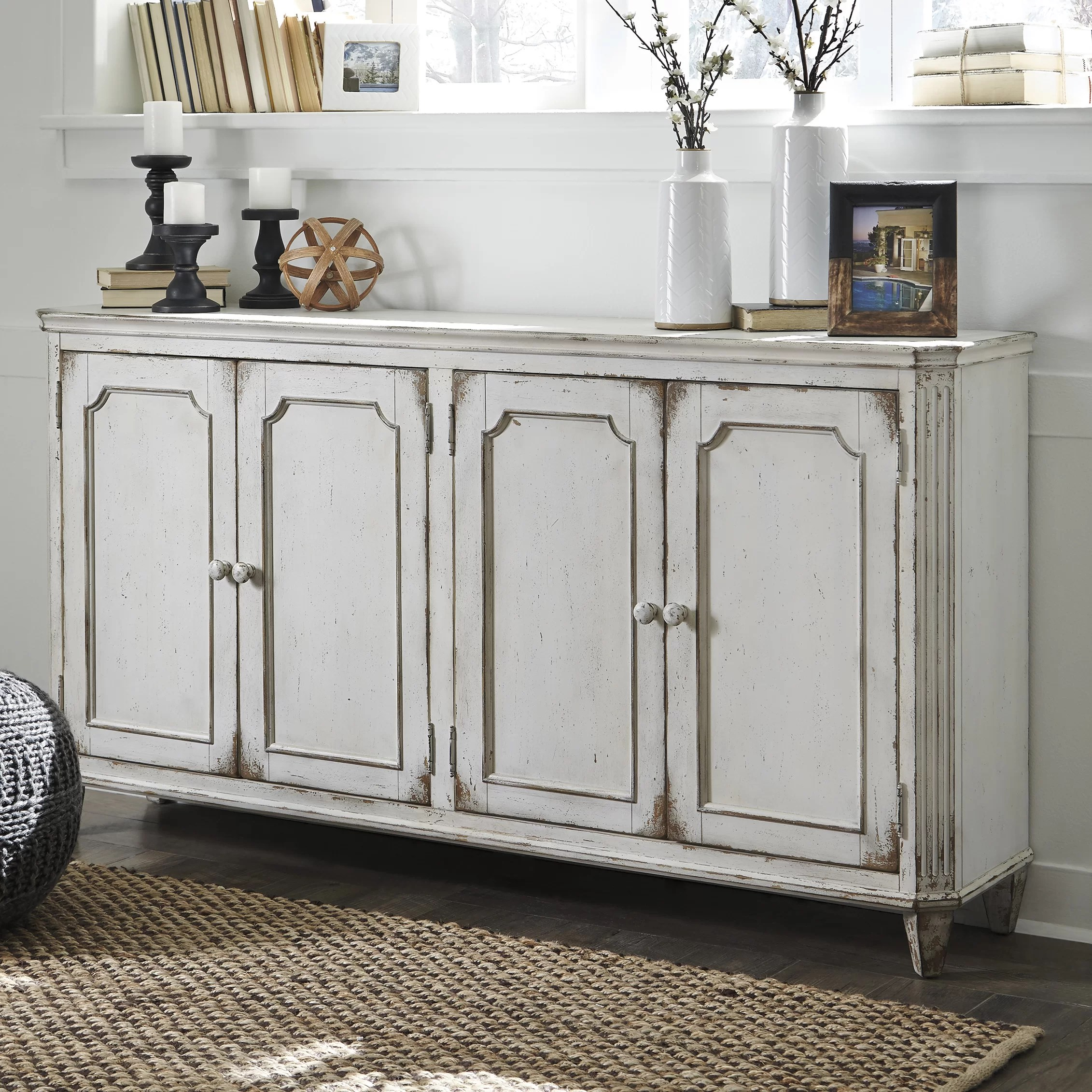 Signature Design by Ashley Mirimyn 4 Door Cabinet  Wayfair