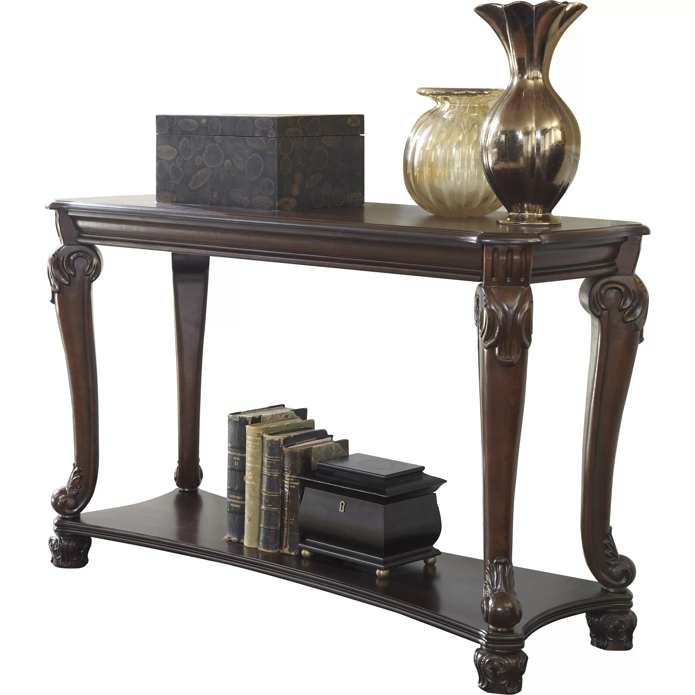 ashley sofa tables ikea leather couch signature design by norwood console table and reviews