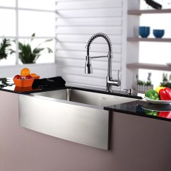 Stainless Steel Farmhouse Kitchen Sink Cost Estimator Kraus 30 Quot 29 75 X 20