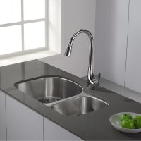 Kraus Single Handle Single Hole Kitchen Faucet with Lever ...