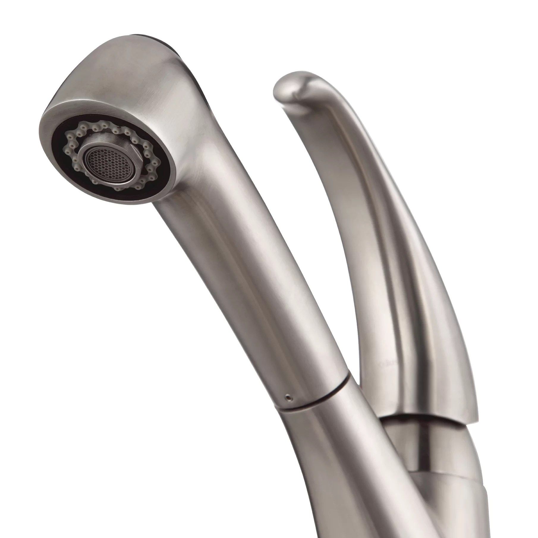 single hole kitchen faucet with pull out spray lowes trash cans kraus handle
