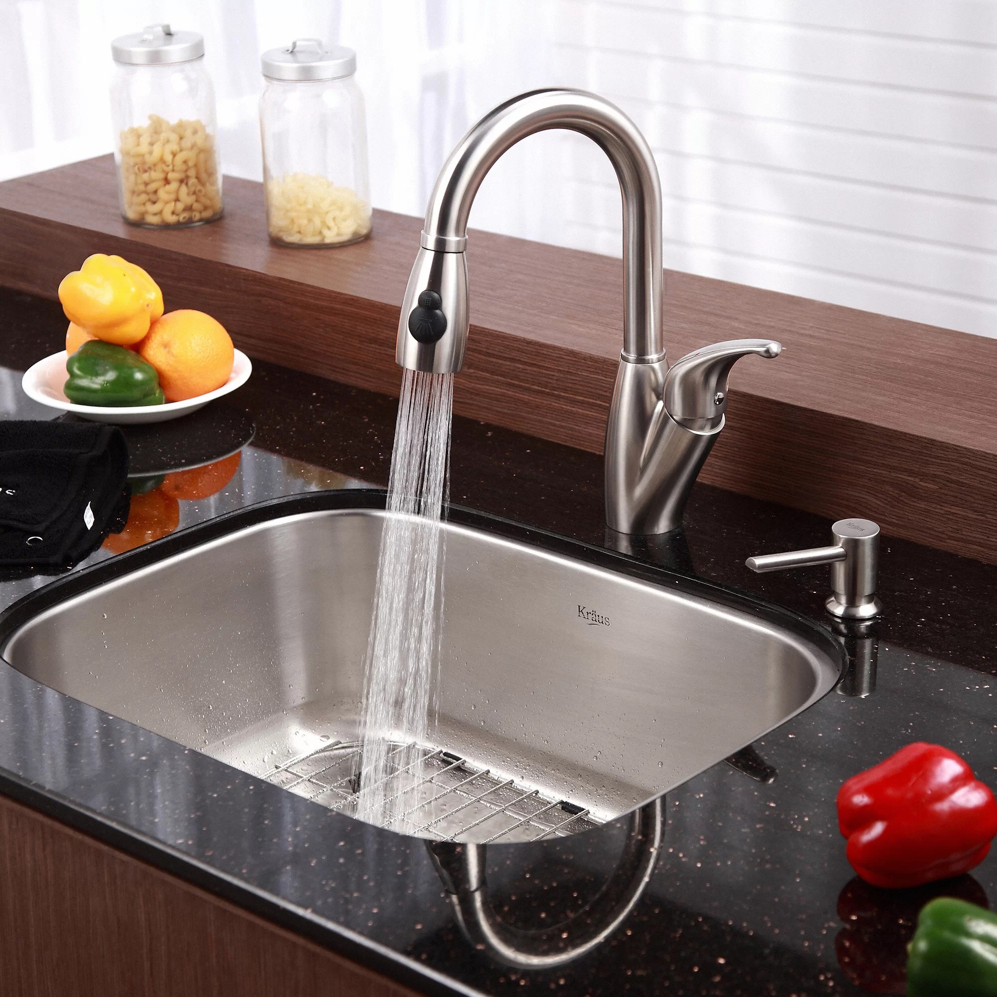 buy undermount kitchen sink solid wood cabinets kraus stainless steel 16 gauge 31 5 quot single