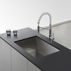 Kitchen Faucet Commercial Style Cheap Sinks Black Kraus Oletto Single Lever