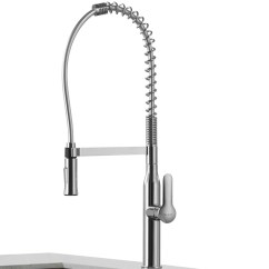 Kitchen Faucet Commercial Style Black Stools Kraus Nola Single Lever