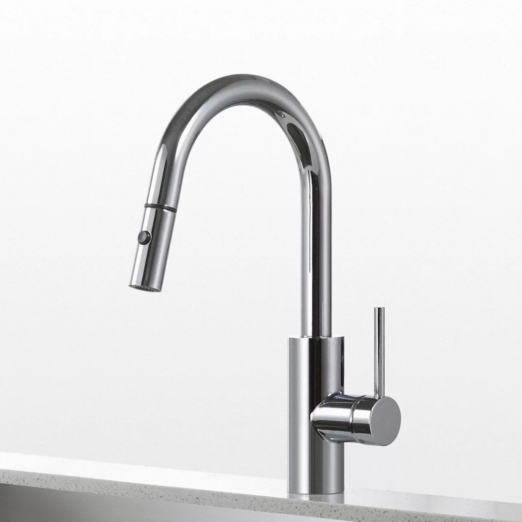 pull down kitchen faucet reviews wallpaper ideas kraus mateo single lever