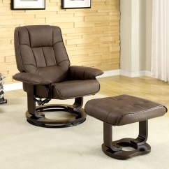Swivel Chair And Ottoman Sit Up Hokku Designs Leatherette Recliner