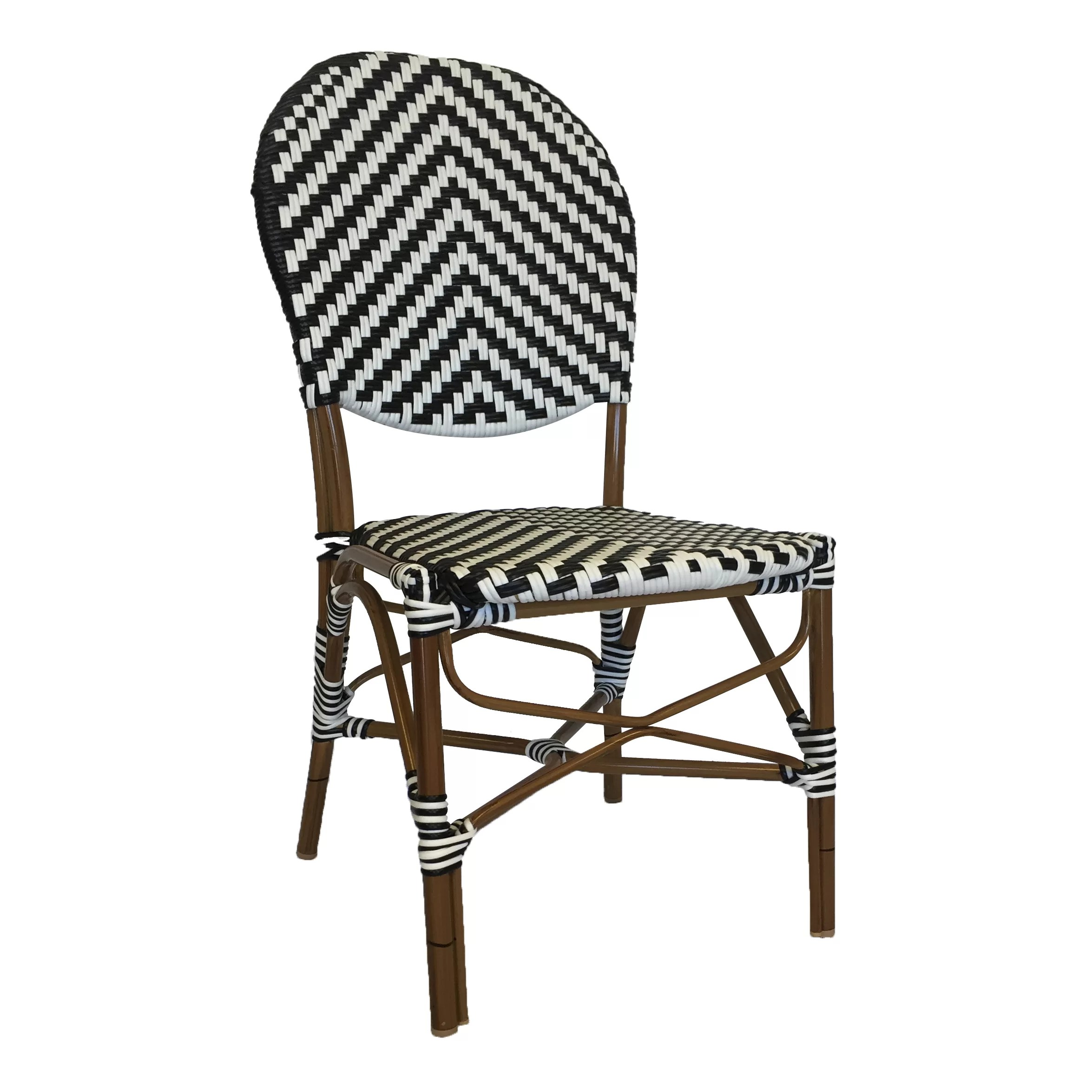 String Chair String Light Co French Café Stacking Dining Side Chair