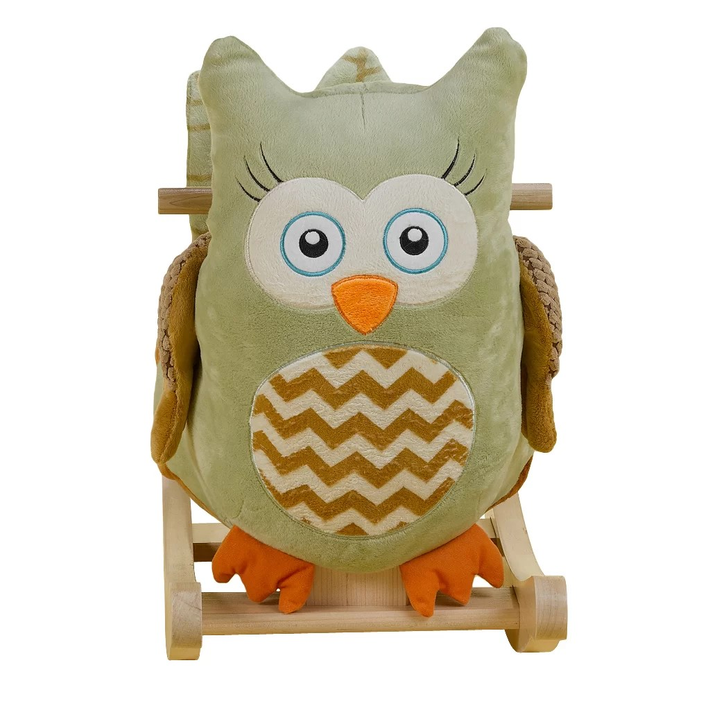 owl chair for kids club chairs cheap rockabye owliver rocker and reviews wayfair