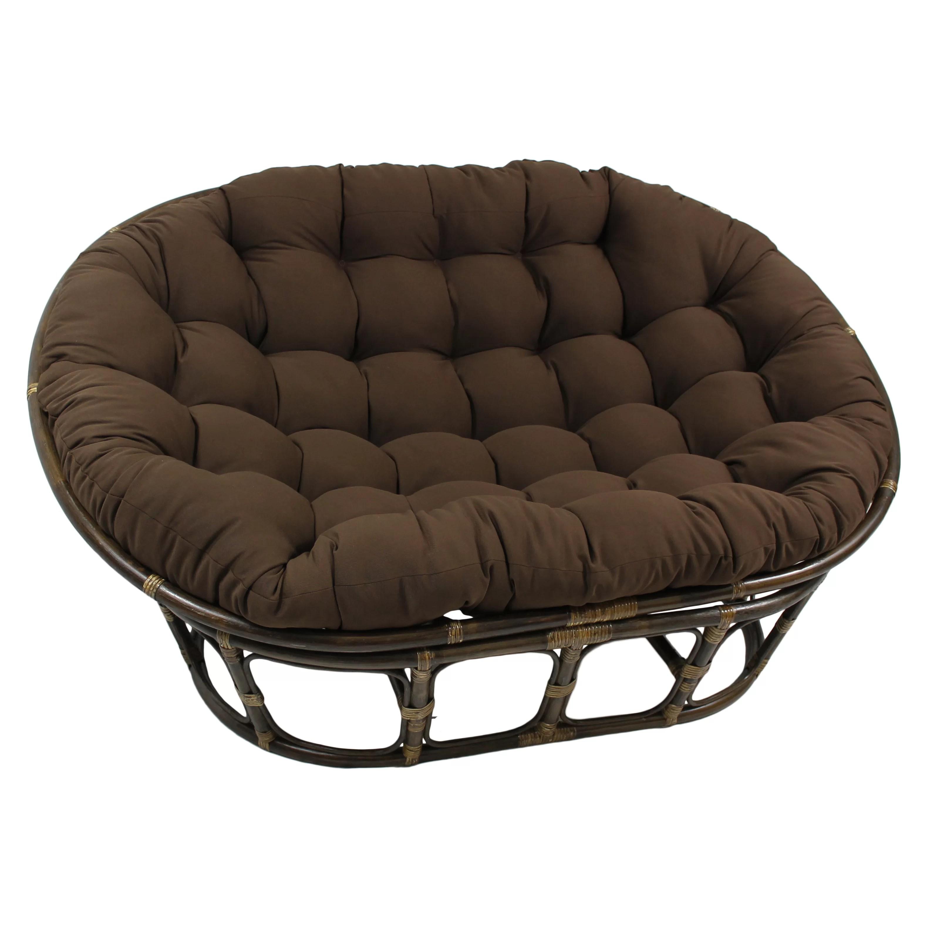 International Caravan Rattan Double Papasan Chair with