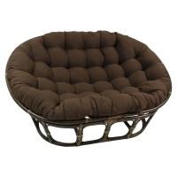 International Caravan Rattan Double Papasan Chair with ...