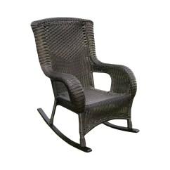 Wicker Rocking Chairs Outdoor Infant Bath Tub Chair International Caravan San Tropez Resin Aluminum
