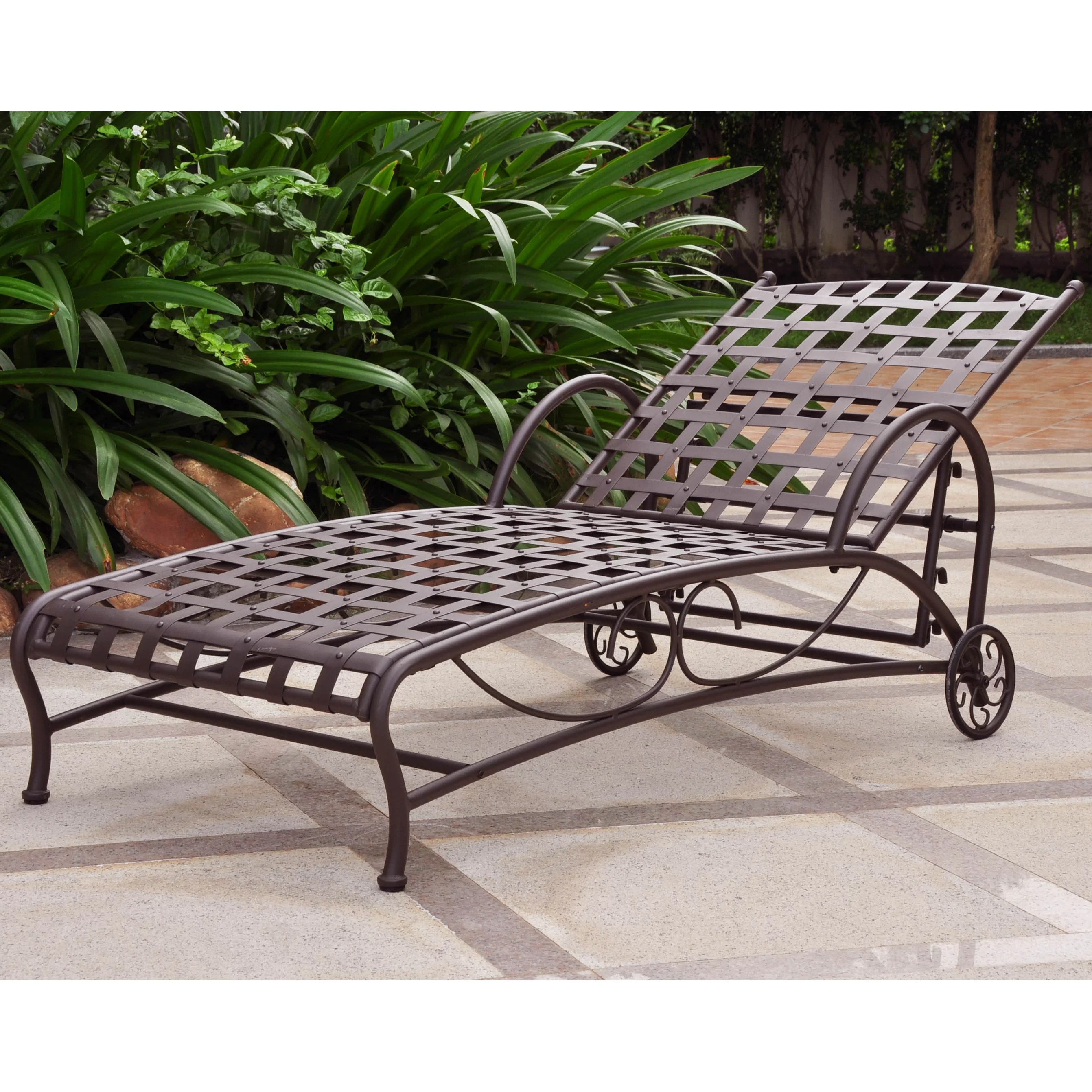 iron chaise lounge chairs co chair loods 5 international caravan santa fe multi position patio