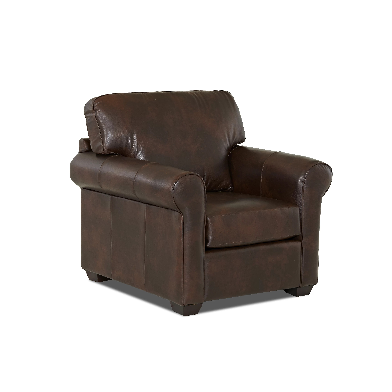 Wayfair Custom Upholstery Rachel Leather Arm Chair