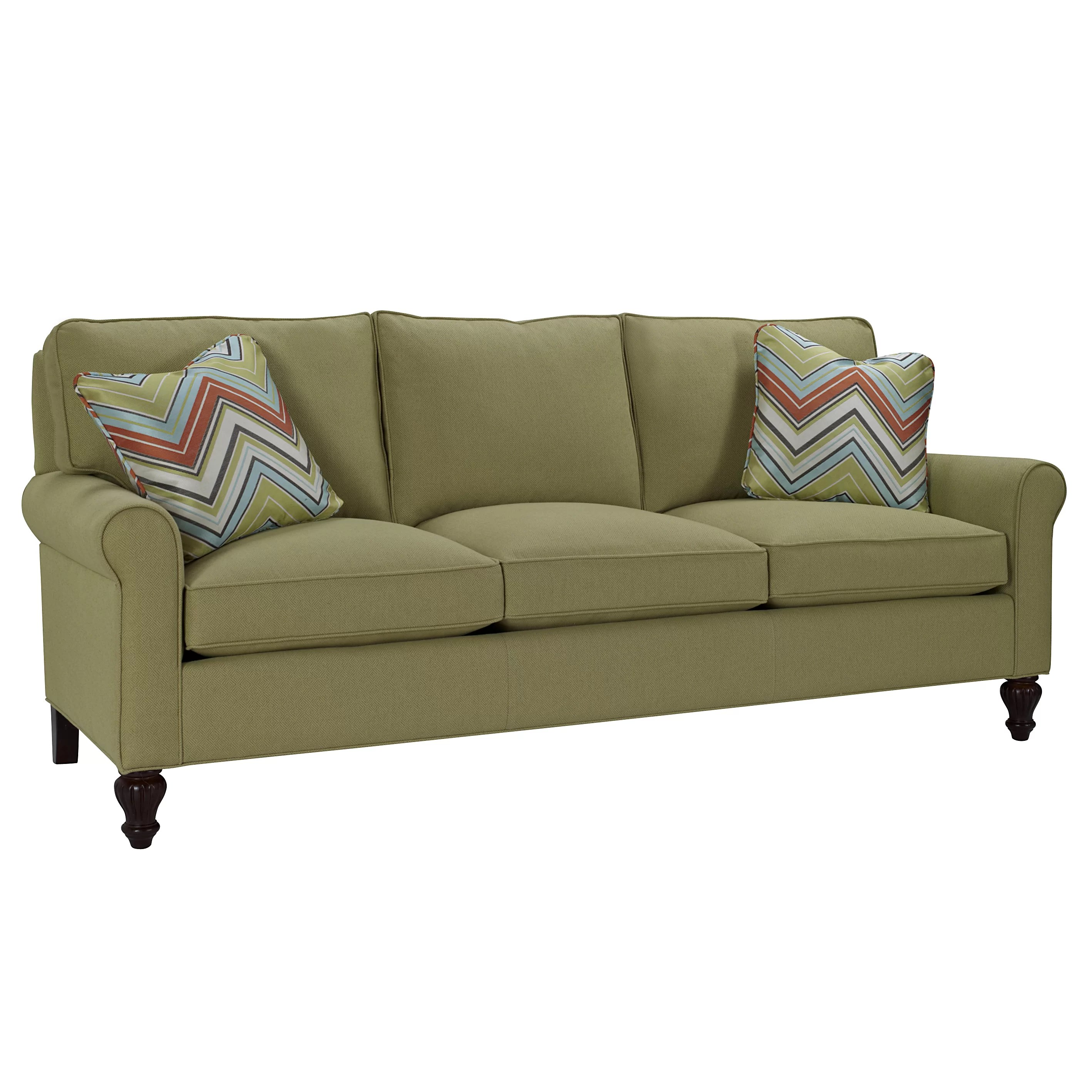Classic Comfort Curved Arm Three Loose Pillow Back Sofa