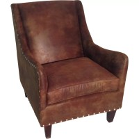 Carolina Classic Furniture Leather Club Chair & Reviews ...