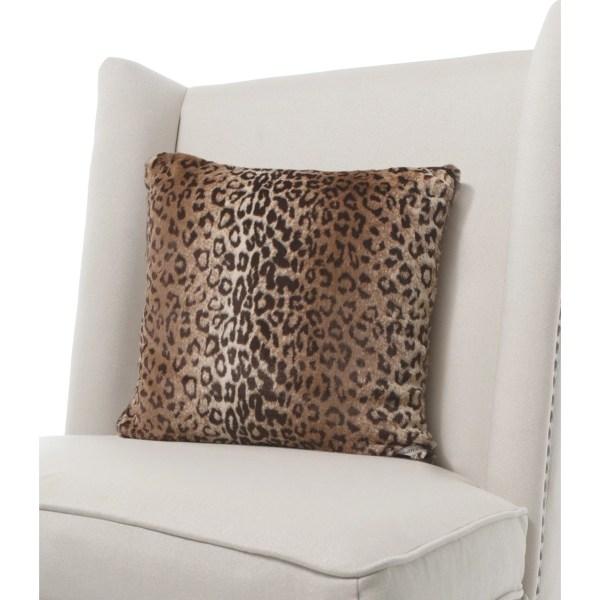 Little Giraffe Luxe Leopard Faux Fur Throw Pillow