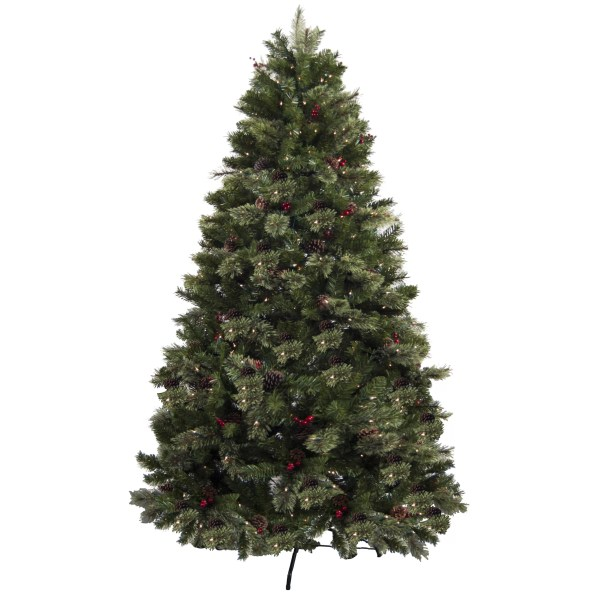 Astella 7.5' Green Artificial Christmas Tree With 500 Clear Lights &