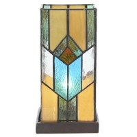 "River of Goods Stained Glass 10.5"" Table Lamp 