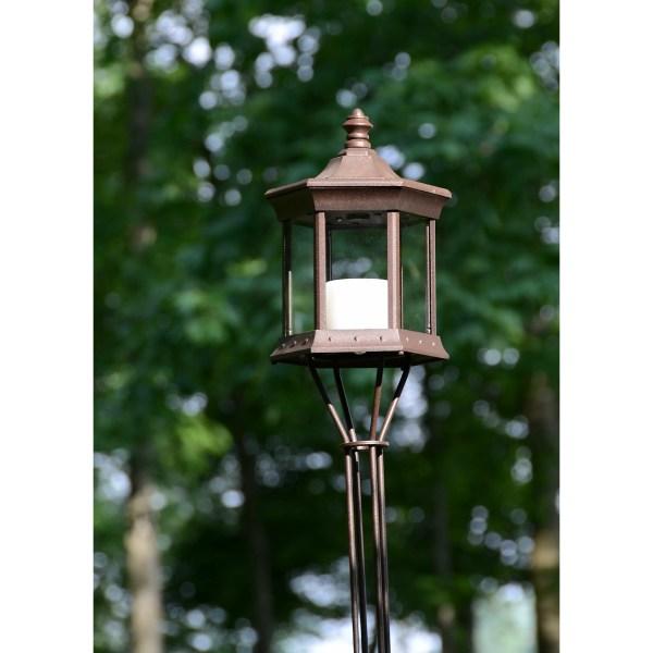 Starlite Solar Lantern Glass Tiki Torch &