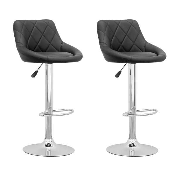 Adjustable Height Swivel Bar Stool with Back