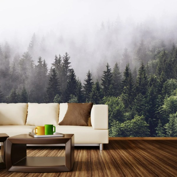 Walls Love Misty Forest Wall Mural &